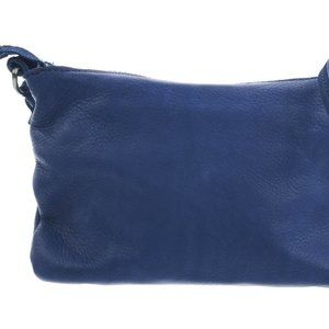 LINEA PELLE COLLECTION Blue Leather Crossbody Bag
